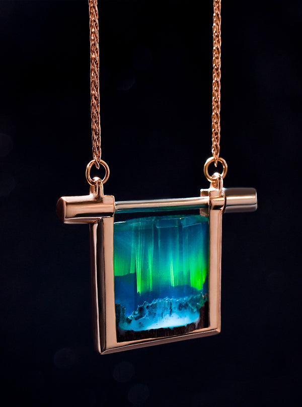 Gold Aurora Borealis Necklace
