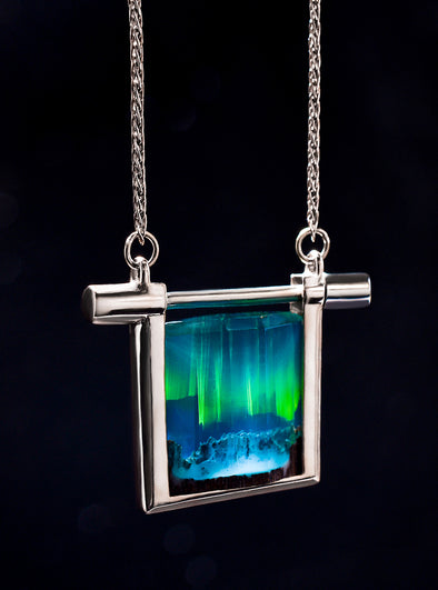 Silver Aurora Borealis Necklace