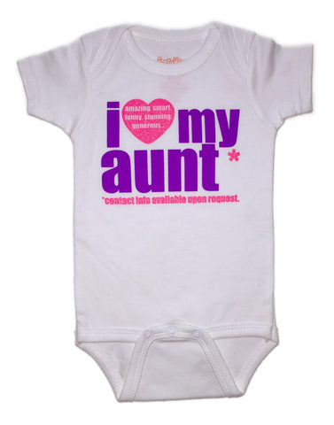 I Love My Aunt Onesie - Purple
