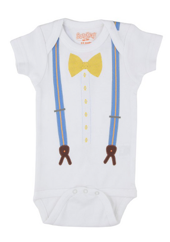 Suspenders and Bow Tie Onesie