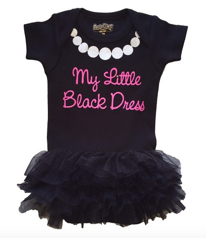 Little Black Dress Tutu Onesie