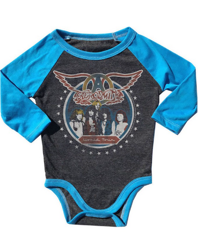Aerosmith World Tour Raglan Onesie