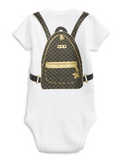 Quilted Backpack Onesie