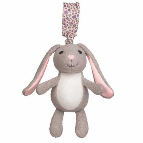 Organic Cotton Stroller Toy - Bunny
