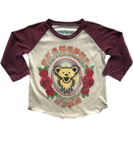 Grateful Dead Bear Toddler Raglan Tee
