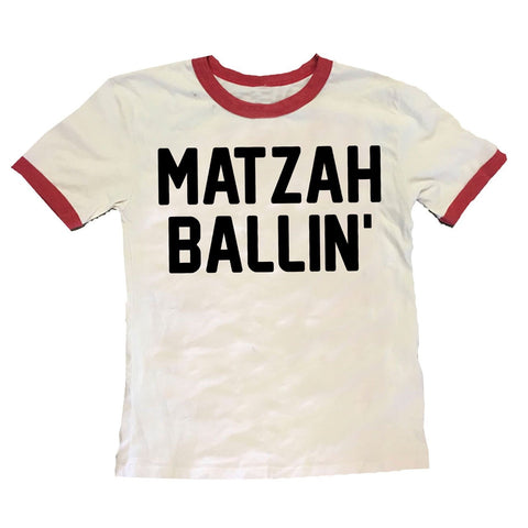 Matzah Ballin Tee - White/Red