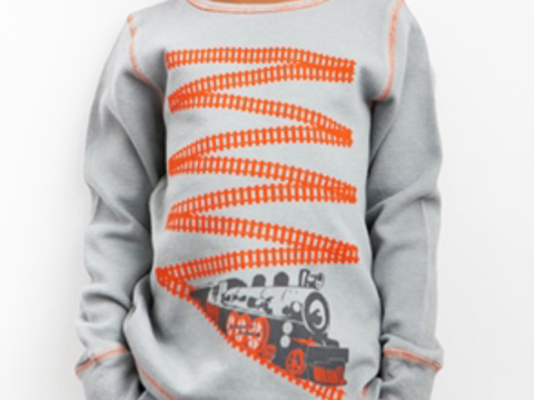Train Tracks Thermal Shirt