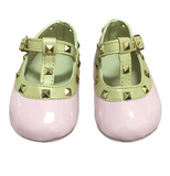 Designer Inspired Baby Stud Mocs - Light Pink