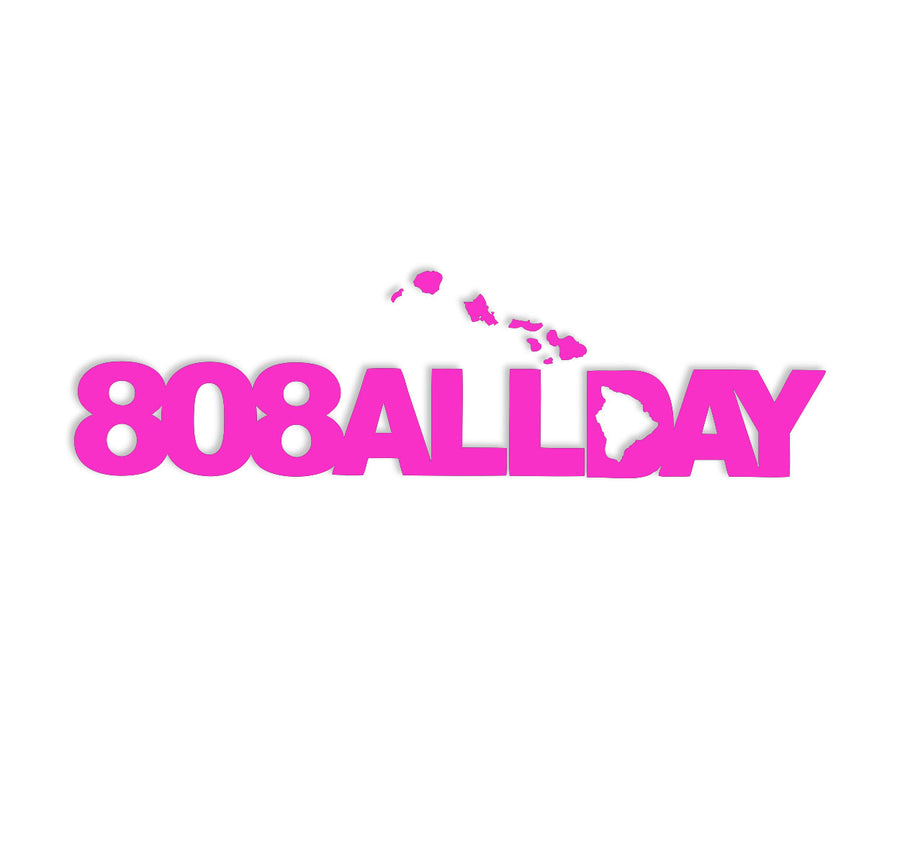"808ALLDAY HAWAIIAN ISLANDS 7"" DIE CUT STICKER 2 PACK - 808allday"