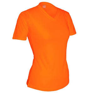 Women's S/S V-Neck Tee - Blaze Orange