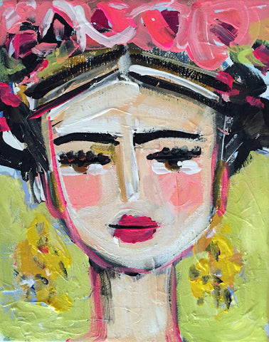 Frida Kahlo Print, Print on paper or canvas