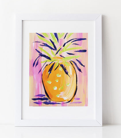 Pineapple Print on Paper