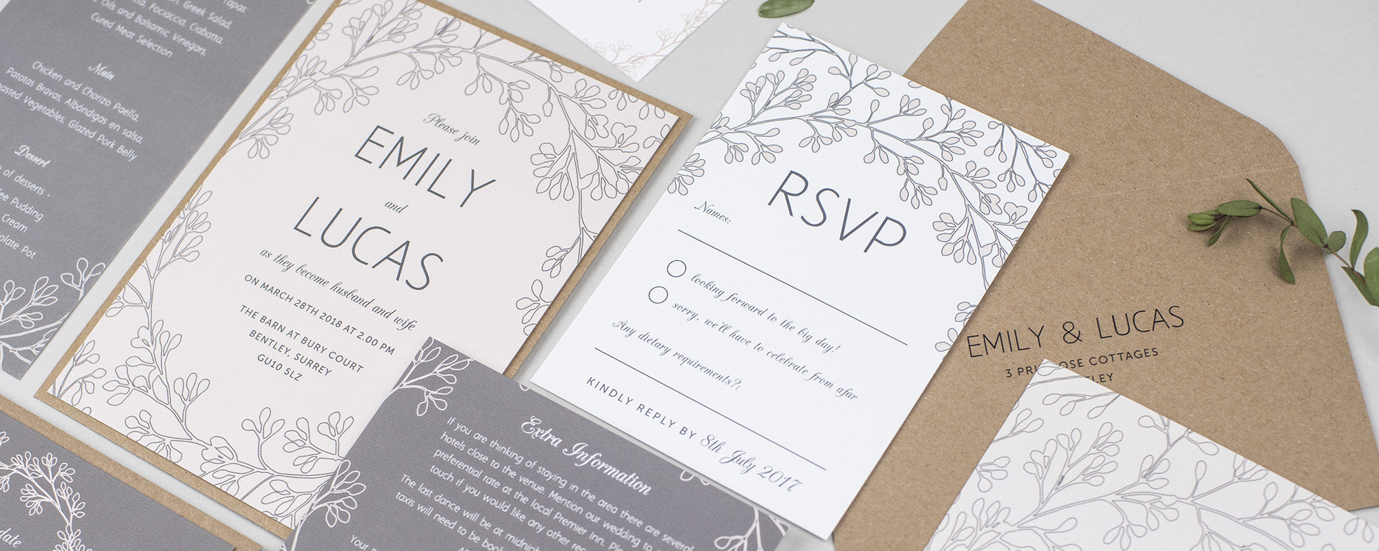 Pear Paper Co Wedding Stationery