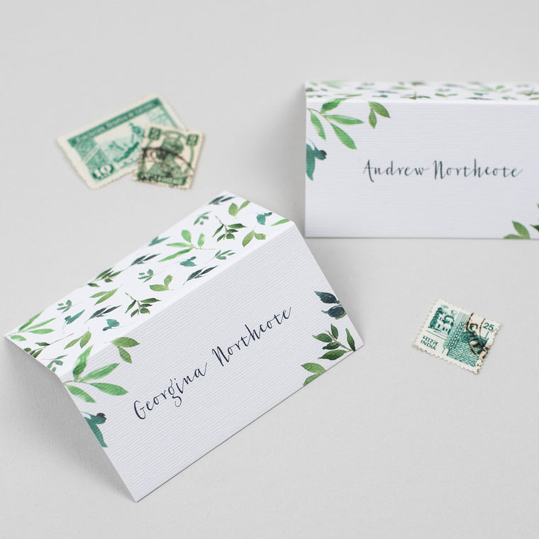 Botanical Garden Folded Place Cards