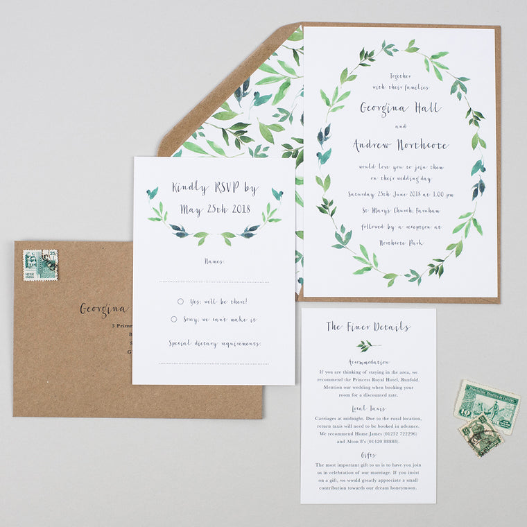 Botanical Garden Wedding Invitation Suite