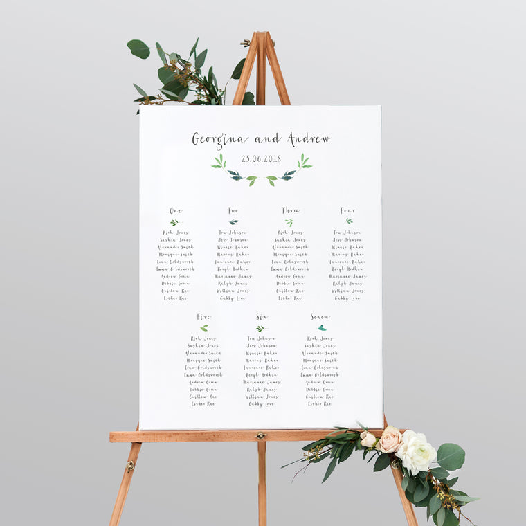 Botanical Garden Mounted Table Plan