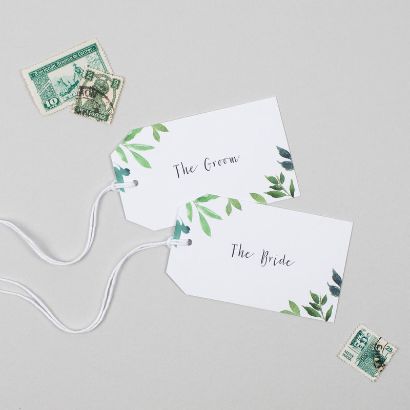 Botanical Garden Place Card Tags - Pear Paper Co