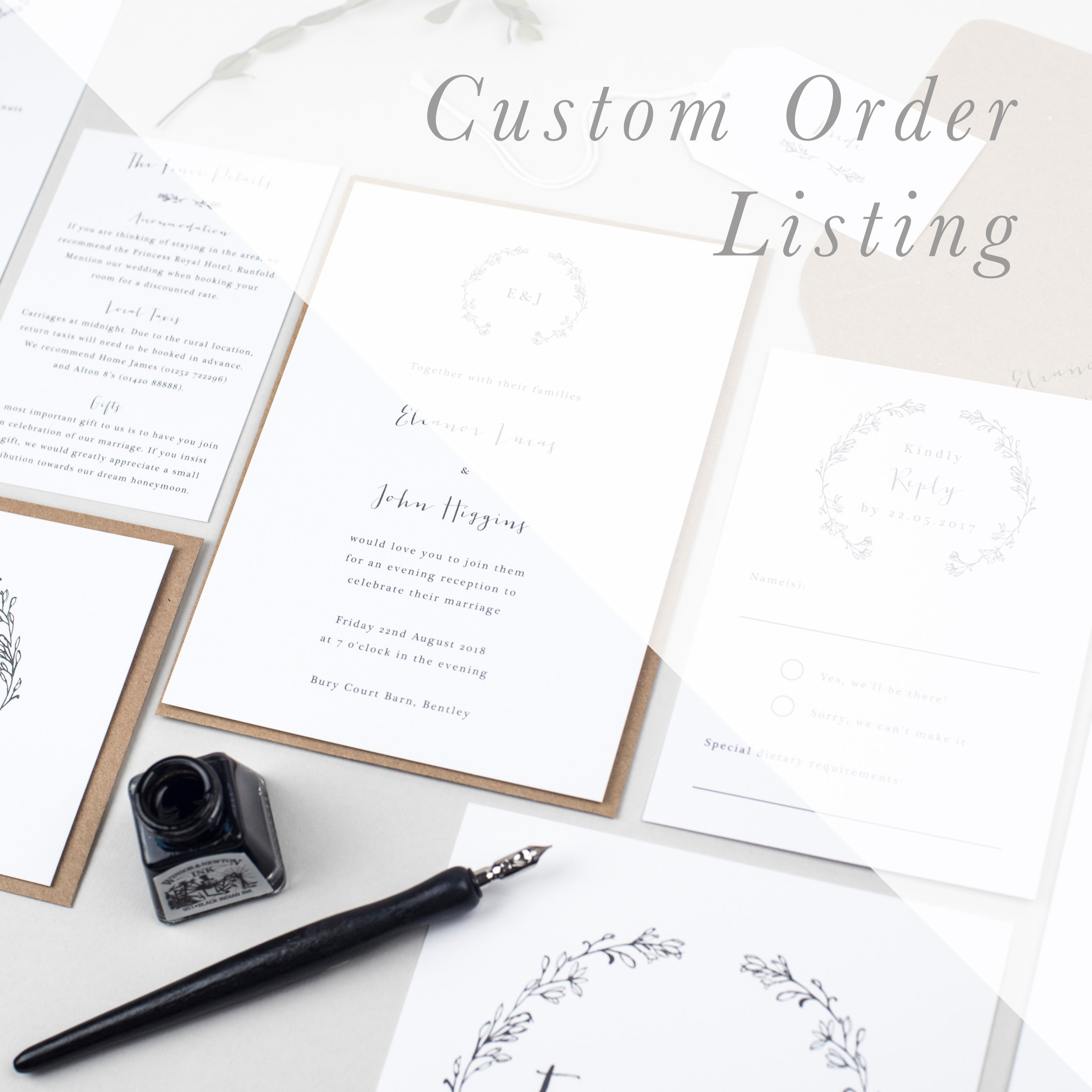 Custom Order Listing - Pear Paper Co