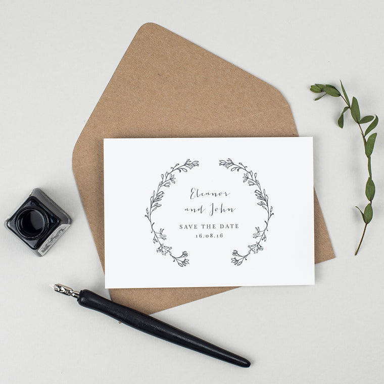 Delicate Laurel Save the Date