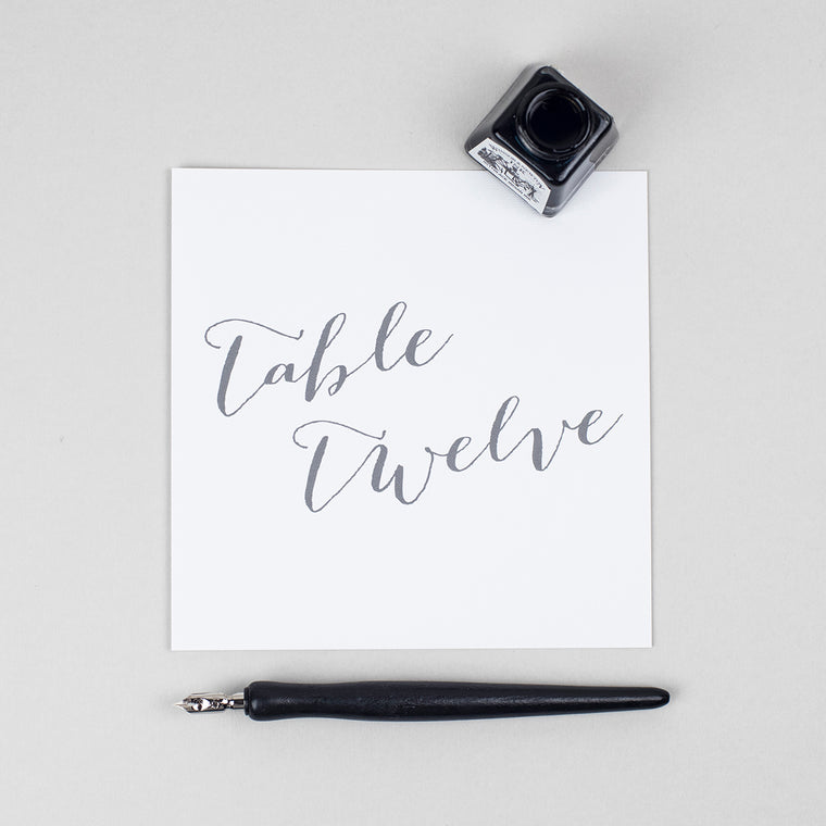 Elegant Calligraphy Pack of Table Numbers