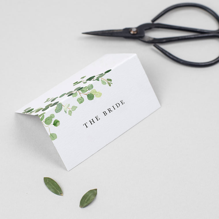 Eucalyptus Folded Place Cards