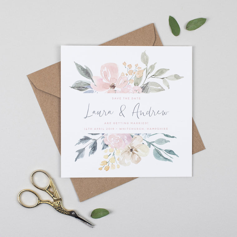 Floral Blush Save the Date