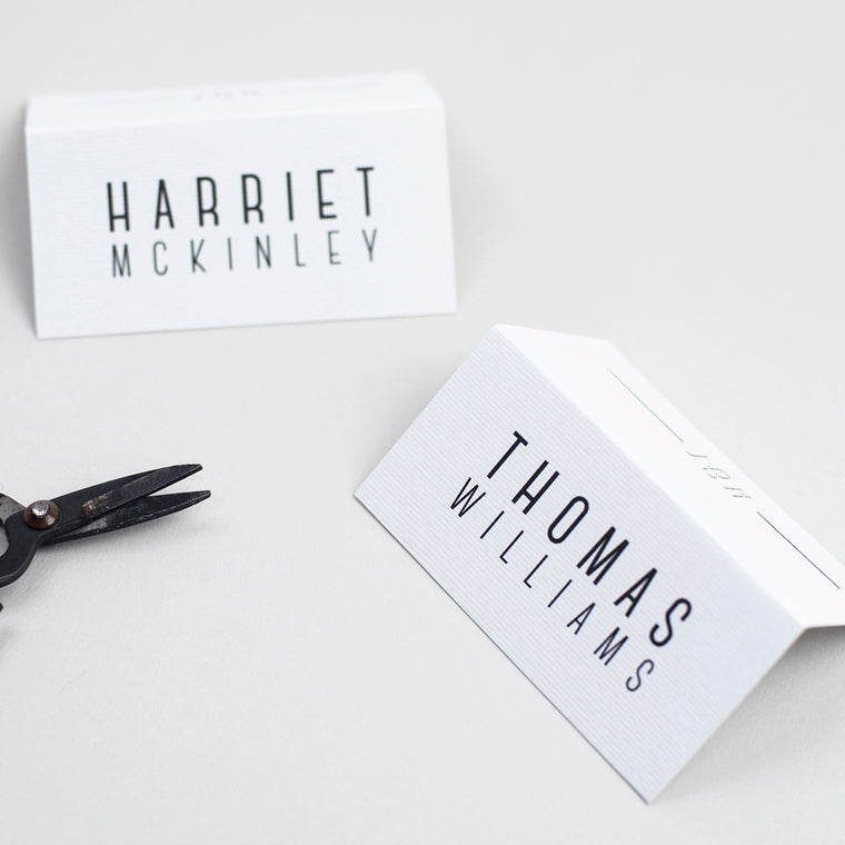 Graphic Type Folded Place Cards
