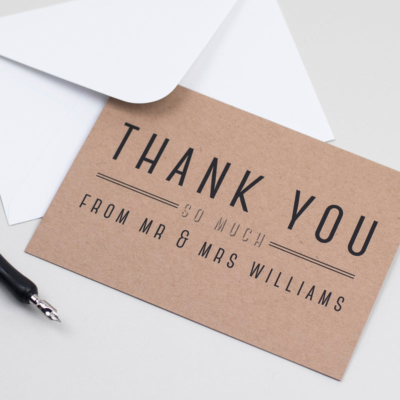 Graphic Type Thank You Cards