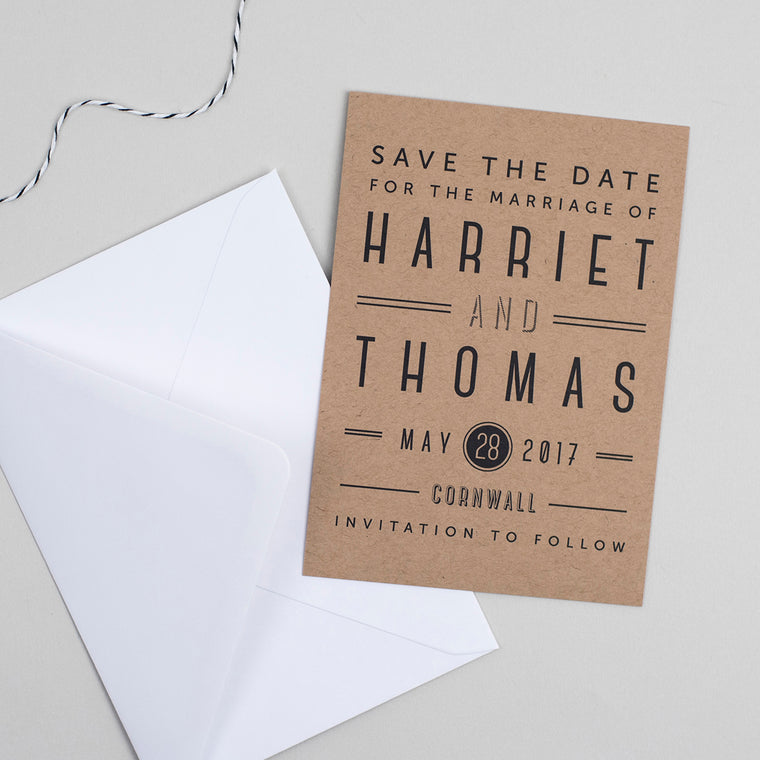 Graphic Type Save the Date