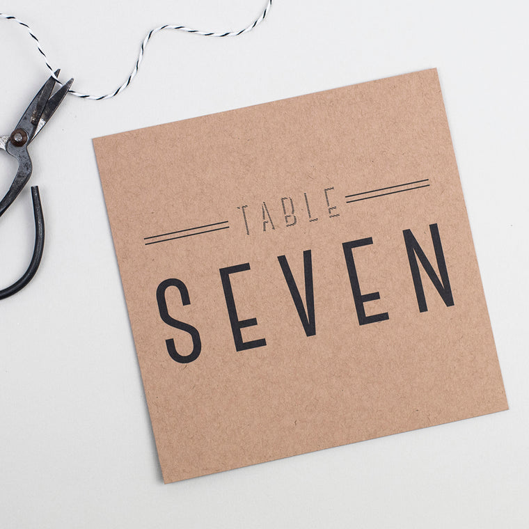 Graphic Type Pack of Table Numbers