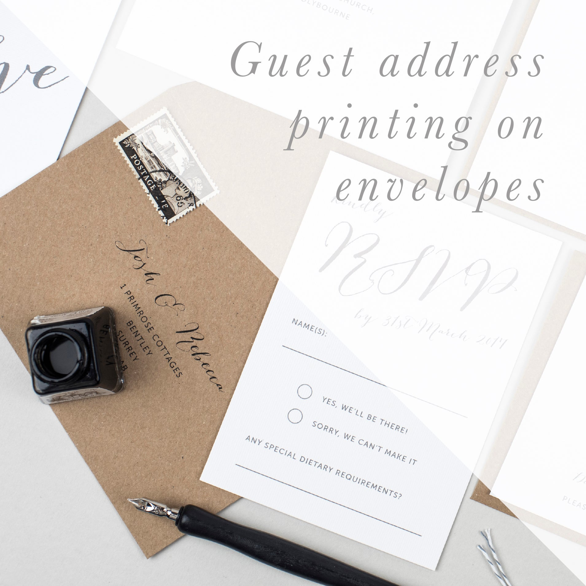 Guest Address Printing on Envelopes - Pear Paper Co