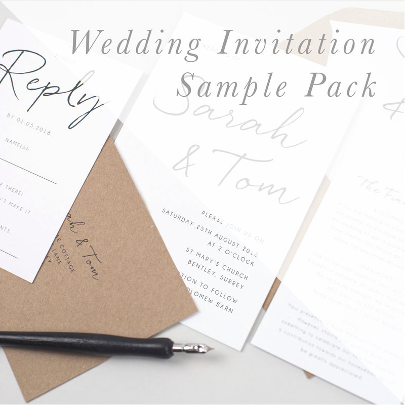 Sample Packs - Wedding Invitations - Pear Paper Co