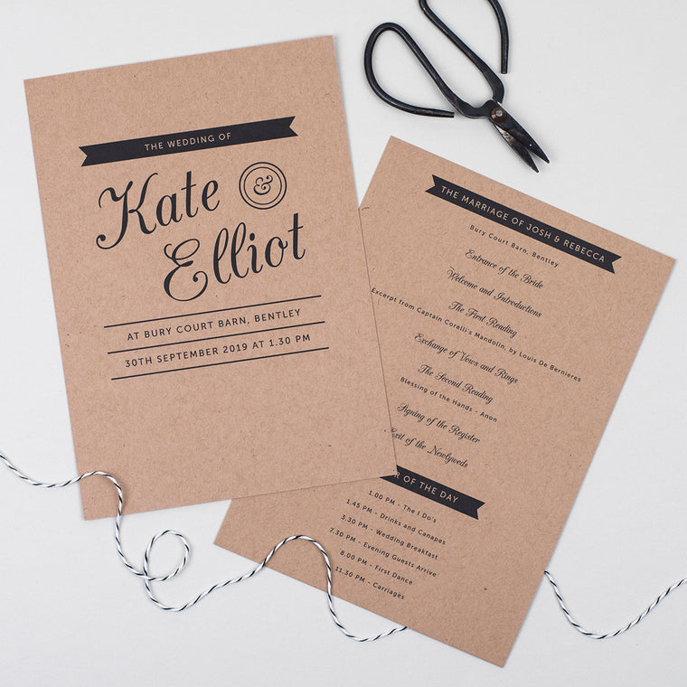 Kraft Stamp Order of the Day Cards
