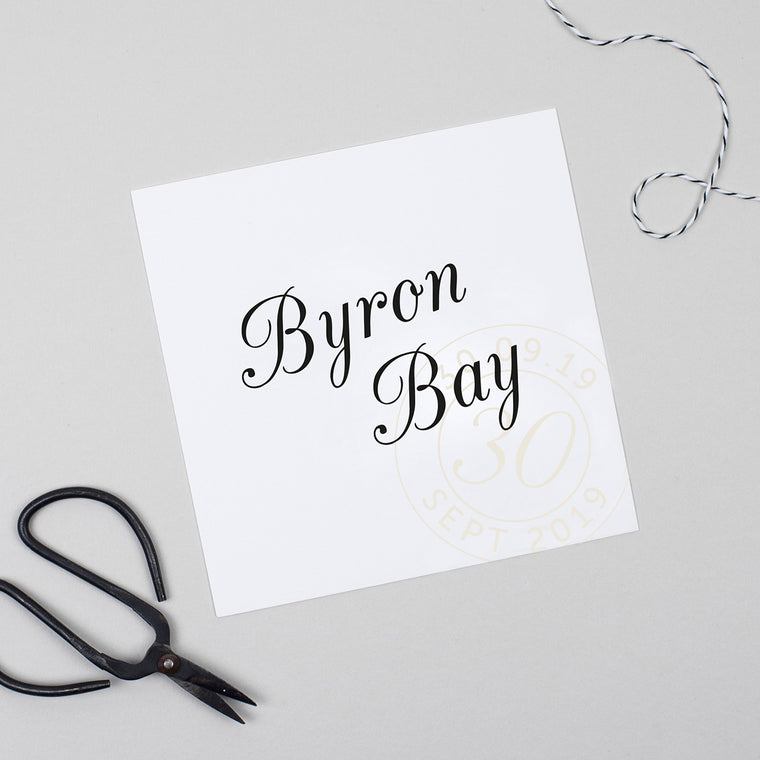 Kraft Stamp Pack of Table Names