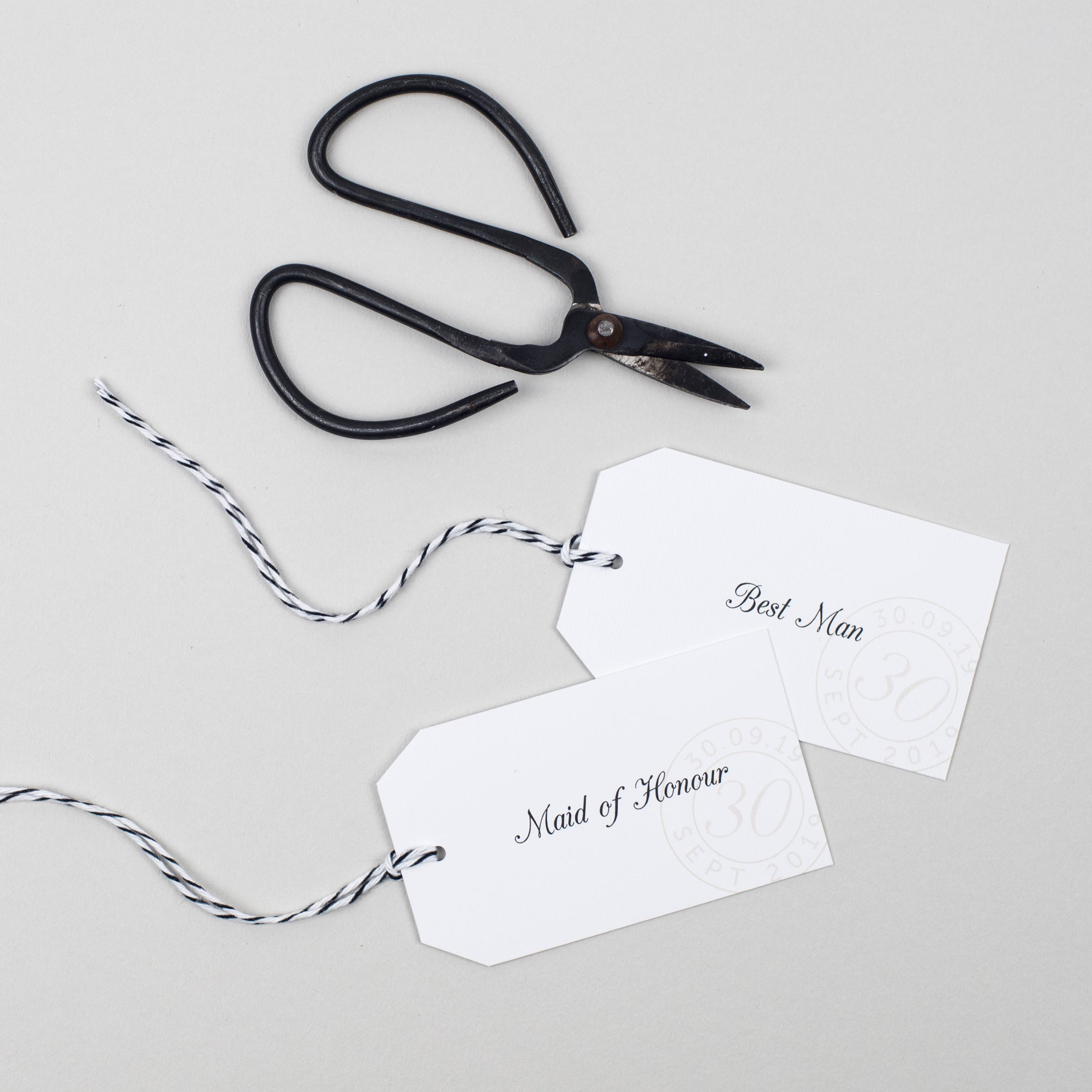 Kraft Stamp Place Card Tags - Pear Paper Co