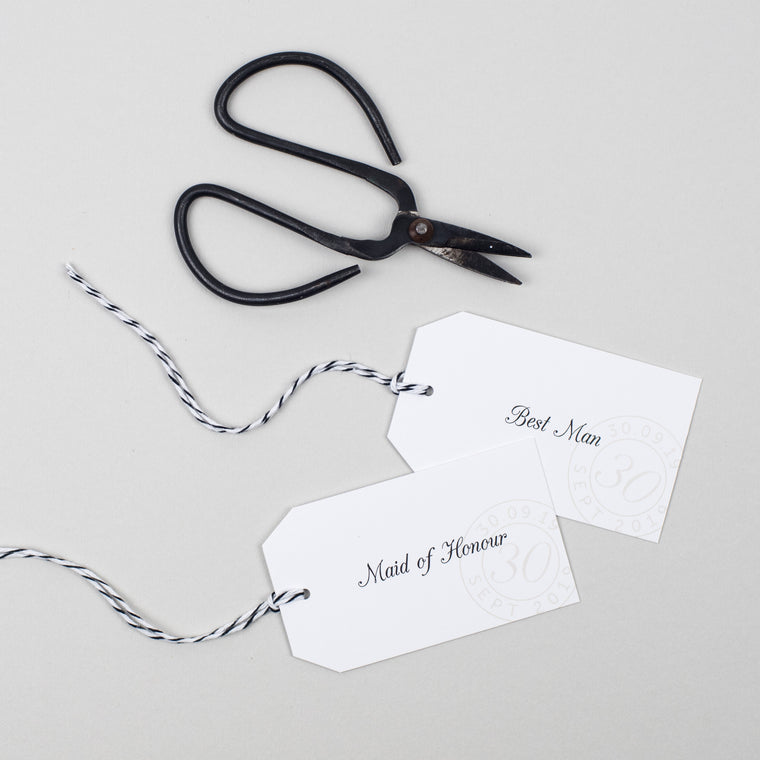 Kraft Stamp Place Card Tags