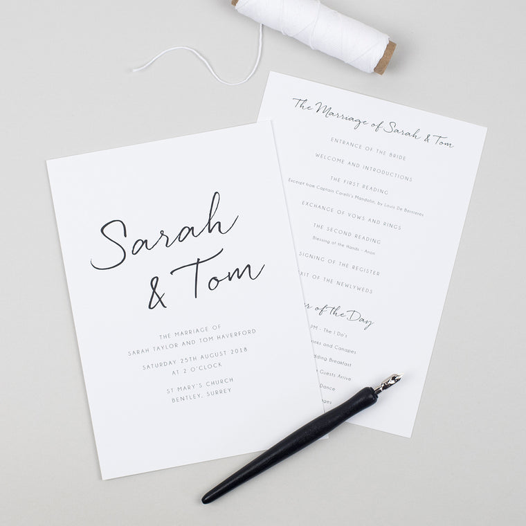 Minimalist Order of the Day Cards