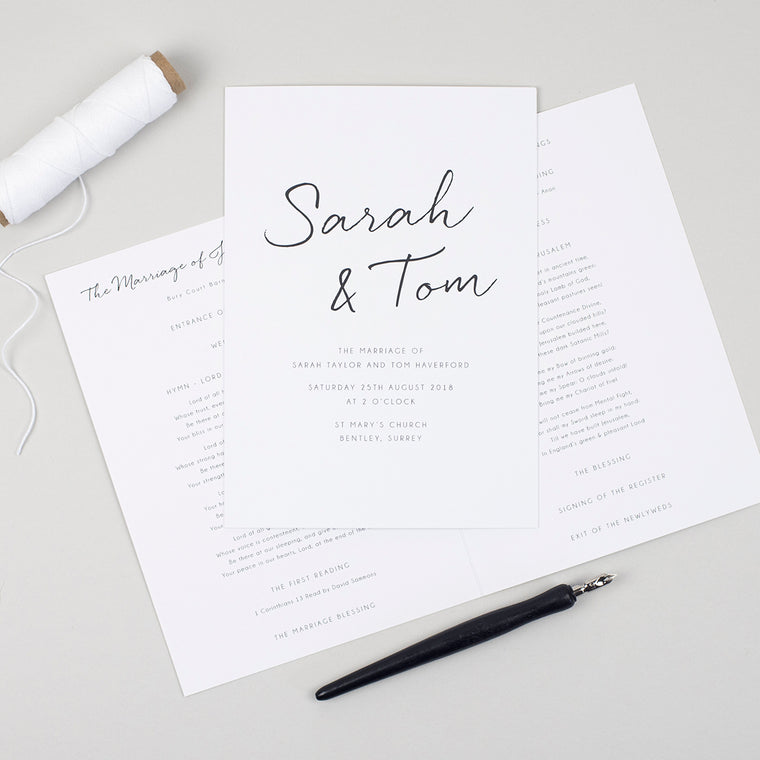Minimalist Order of Service Booklet