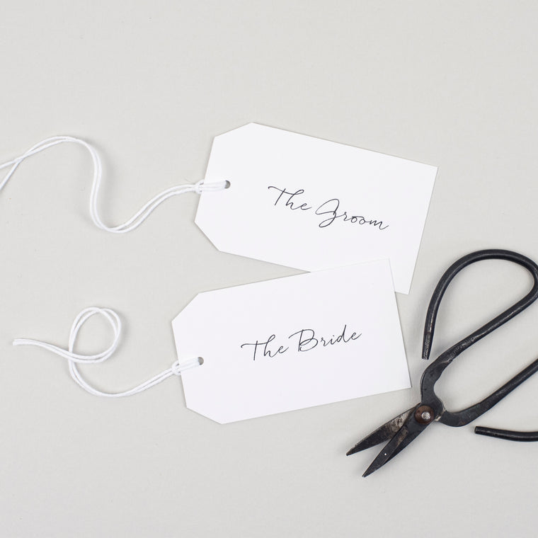 Minimalist Place Card Tags