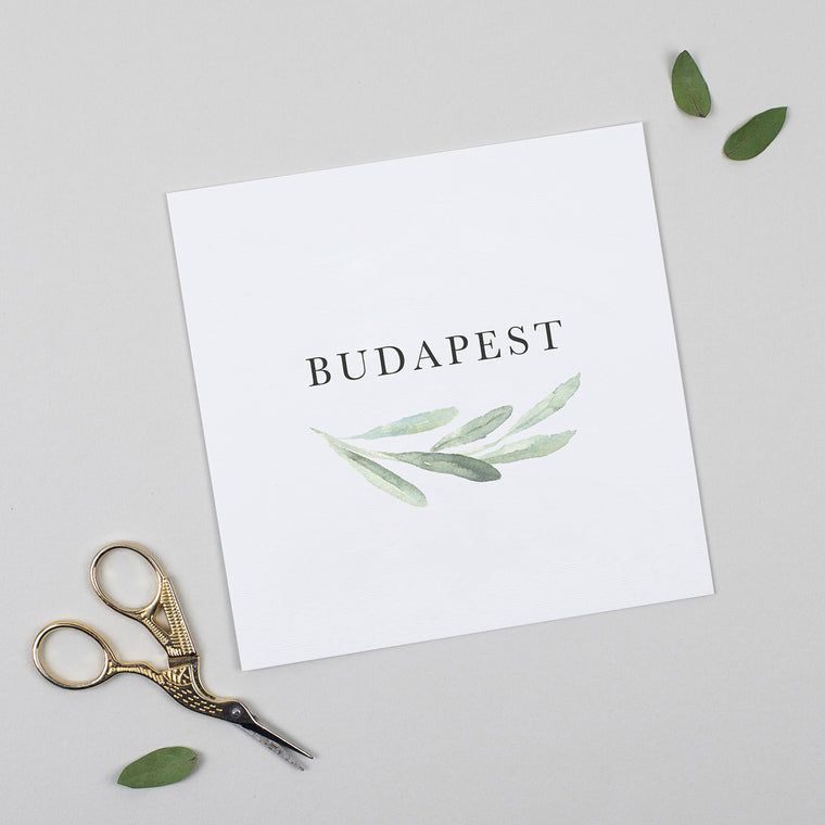 Olive Pack of Table Names