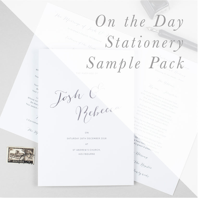 Sample Packs - On the Day Stationery