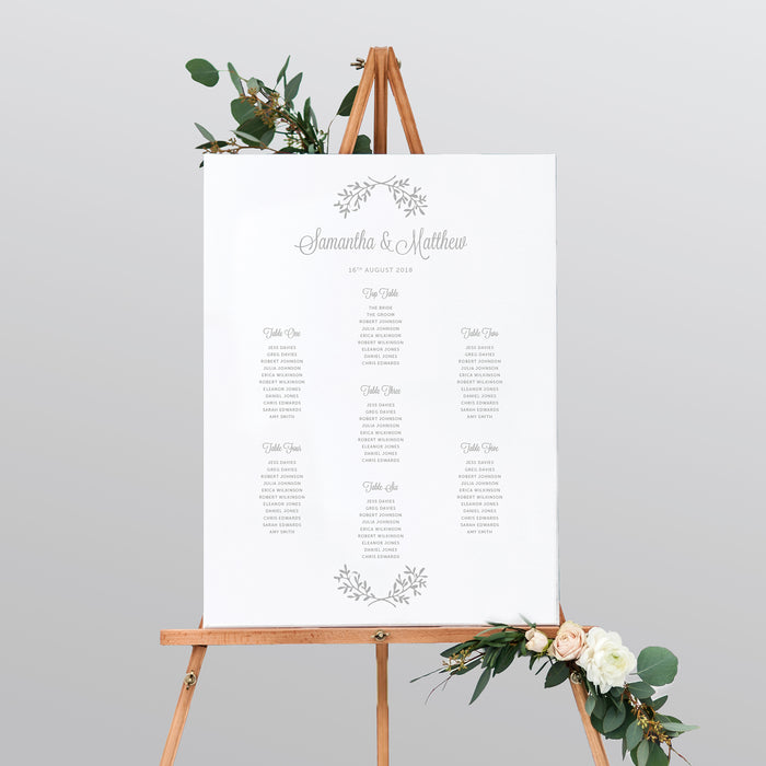 Perfect Day Mounted Table Plan
