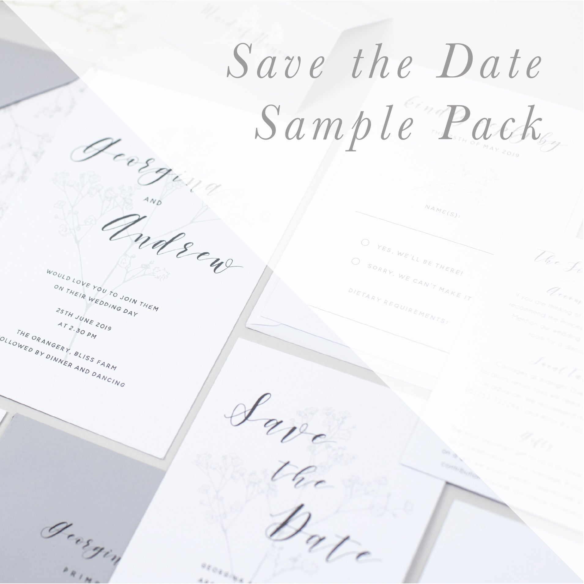 Sample Packs - Save the Dates - Pear Paper Co