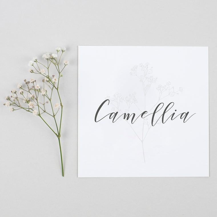 Spring Romance Pack of Table Names