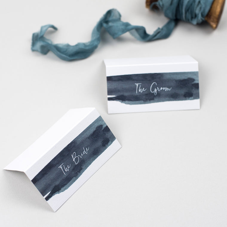 Waters Edge Folded Place Cards
