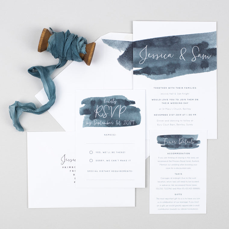 Waters Edge Wedding Invitation Suite