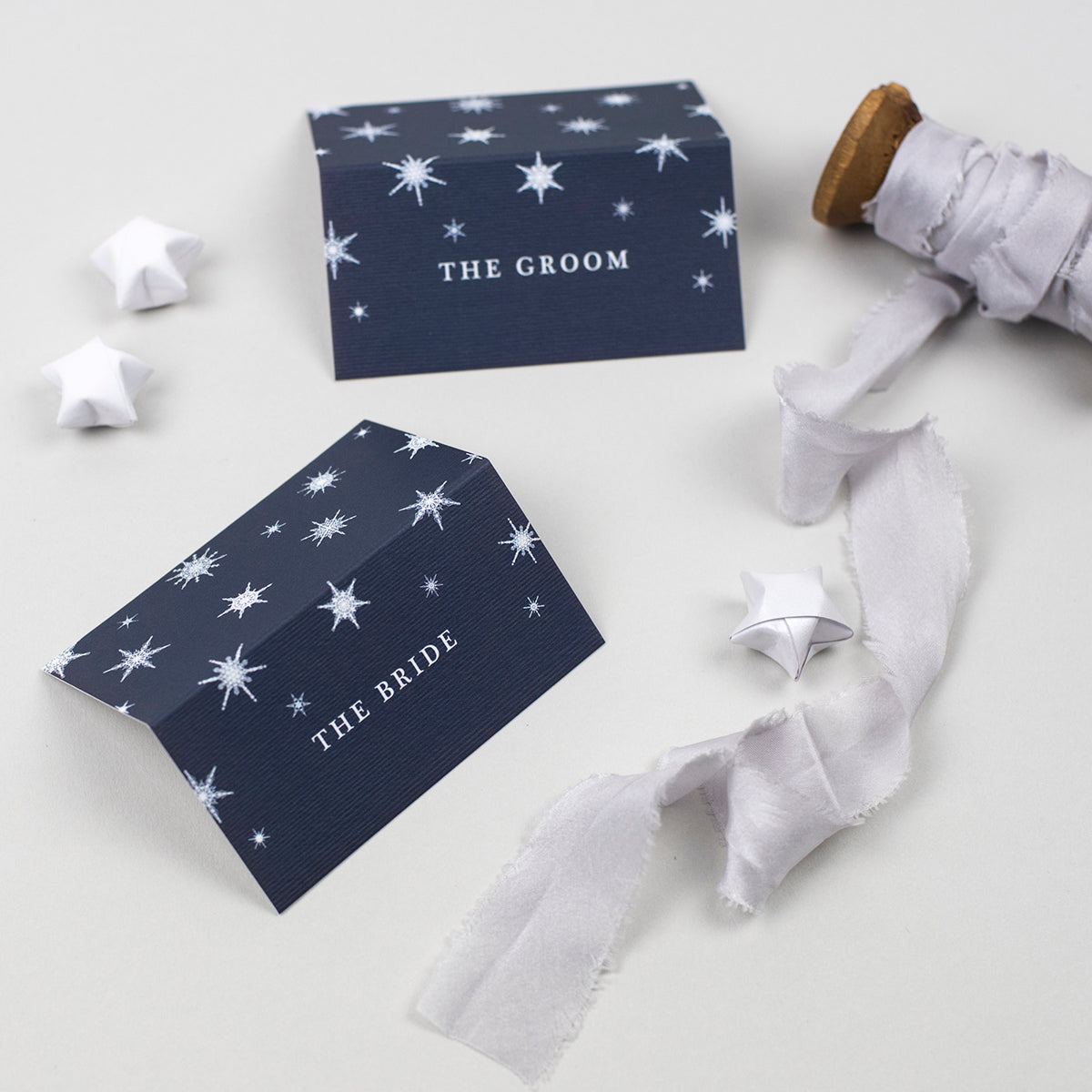 Winter Folded Place Cards