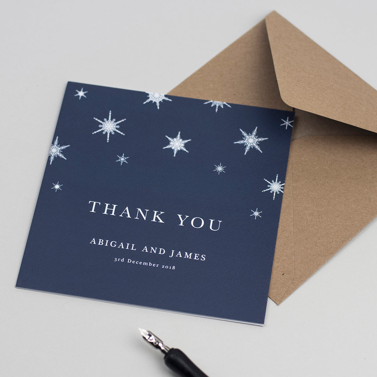Winter Wedding Thank You Cards