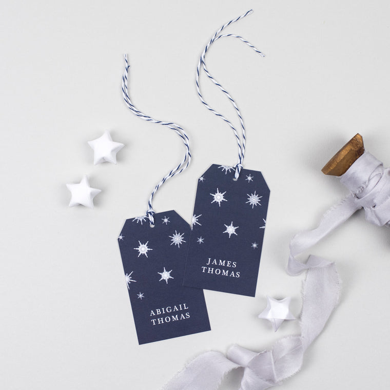 Winter Place Card Tags