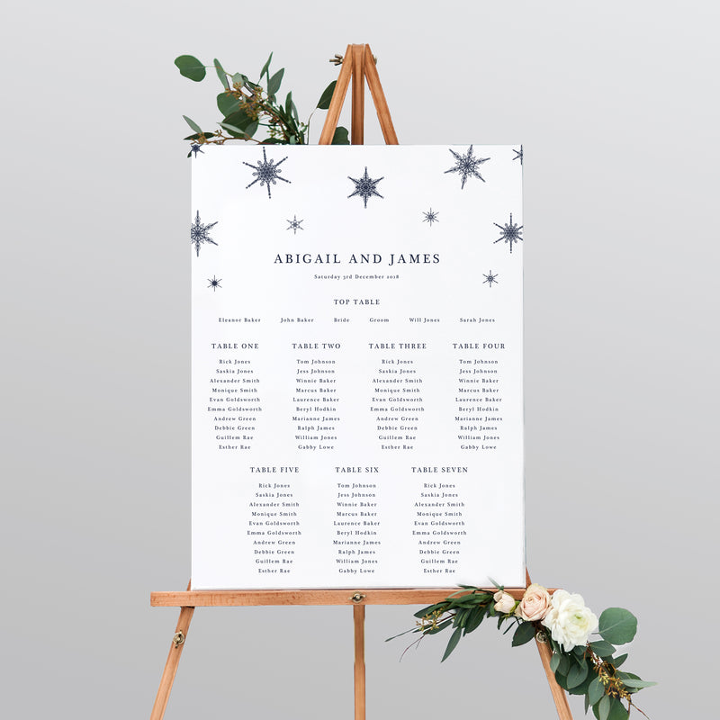Winter Mounted Table Plan